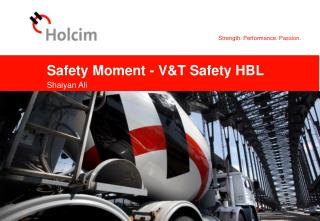 Safety Moment - V&T Safety HBL