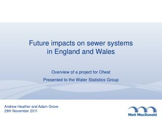 Future impacts on sewer systems  in England and Wales