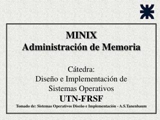 Estructura de MINIX