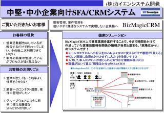 中堅・中小企業向け SFA/CRM システム