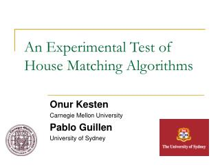 An Experimental Test of House Matching Algorithms