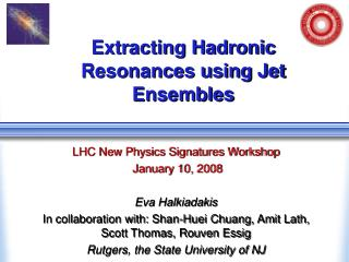 Extracting Hadronic Resonances using Jet Ensembles