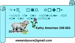 Ewe and Yours Fiber Art and Adornments for You and Your Garden Kathy Amerman 248-563-5581