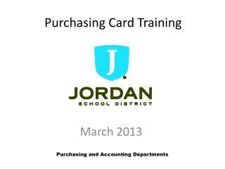 Purchasing Card Training