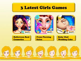 3 Latest Girls Games