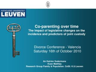 Divorce Conference - Valencia Saturday 16th of October 2010