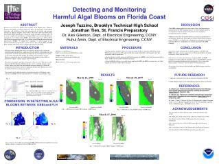 Detecting and Monitoring  Harmful Algal Blooms on Florida Coast