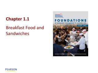 Chapter  1.1 Breakfast Food and Sandwiches