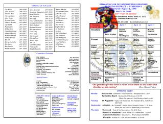 Bev Shadwell Corky Borders Ralph Marcello John Meighan Al Russ Lex Allen Paul Myers Burt VanWagner