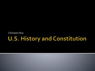 U.S. History and Constitution