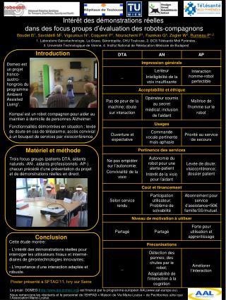 Intérêt des démonstrations réelles  dans des focus groups d'évaluation des robots-compagnons