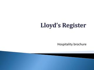 Lloyd�s Register