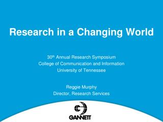Research in a Changing World