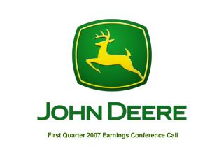 First Quarter 2007 Earnings Conference Call
