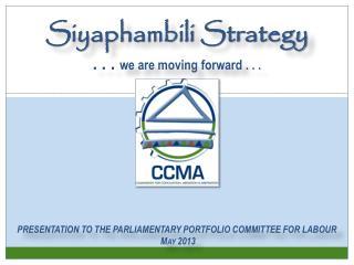 SIYAPHAMBILI STRATEGY 2011 - 2015
