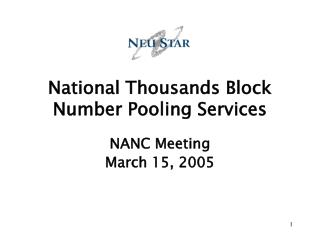 National Thousands Block Number Pooling Services