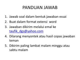 PANDUAN JAWAB