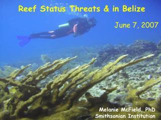 Reef Status Threats & in Belize