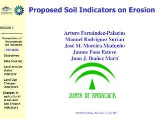 Proposed Soil Indicators on Erosion
