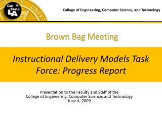 Brown Bag Meeting