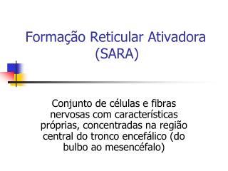 Formação Reticular Ativadora                 (SARA)