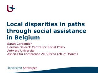 Local disparities in paths through social assistance in Belgium