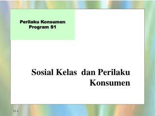 Sosial Kelas  dan Perilaku Konsumen