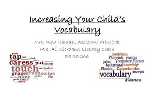 Increasing Your Child�s  Vocabulary