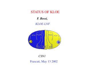 STATUS OF KLOE