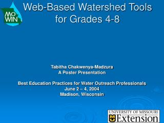 Web-Based Watershed Tools for Grades 4-8