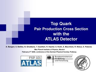 Top Quark  Pair Production Cross Section with the  ATLAS Detector