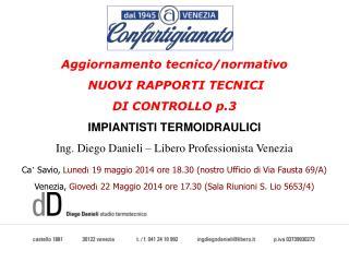 Aggiornamento tecnico/normativo NUOVI RAPPORTI TECNICI  DI CONTROLLO p.3