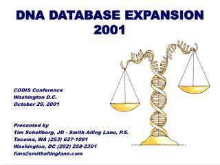 DNA DATABASE EXPANSION 2001
