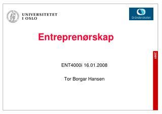 Entrepren�rskap