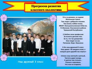 Программа развития классного коллектива