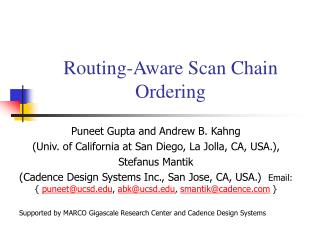 Routing-Aware Scan Chain Ordering