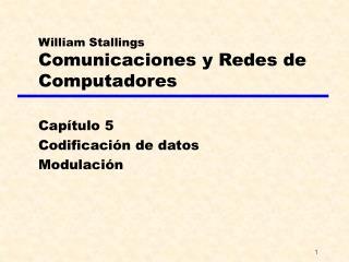 William Stallings Comunicaciones y Redes de Computadores