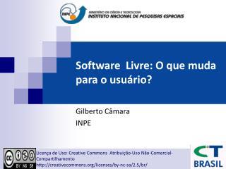 Software  Livre: O que muda para o usu rio
