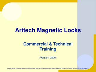 Aritech Magnetic Locks