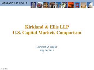 Kirkland & Ellis LLP U.S. Capital Markets Comparison