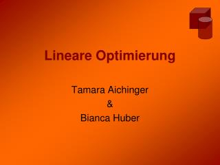 Lineare Optimierung