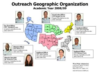 Outreach Geographic Organization Academic Year 2008/09