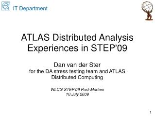 ATLAS Distributed Analysis Experiences in STEP'09