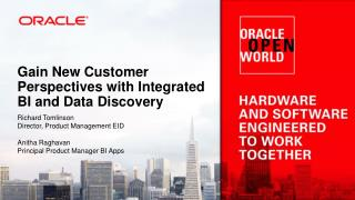 Gain New Customer Perspectives with Integrated BI and Data Discovery
