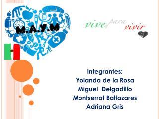 Integrantes: Yolanda de la Rosa Miguel  Delgadillo Montserrat Baltazares Adriana Gris