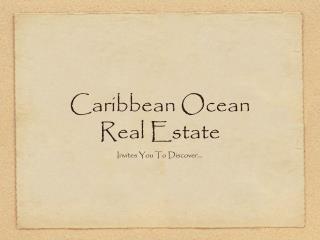 Caribbean Ocean Real Estate