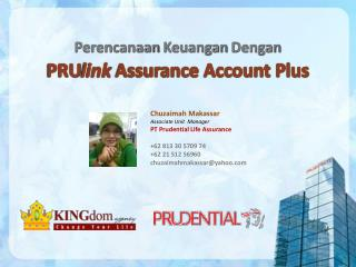 PRU link  Assurance Account Plus