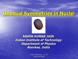 Unusual Symmetries in Nuclei