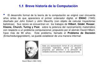 1.1  Breve historia de la Computaci n