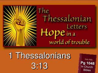 1 Thessalonians 3:13